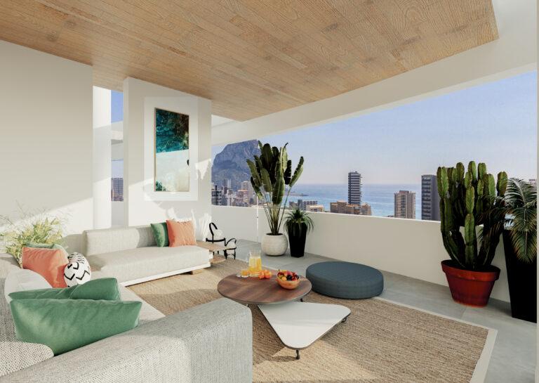 NC0221CR : Новые дизайнерские апартаменты в Кальпе