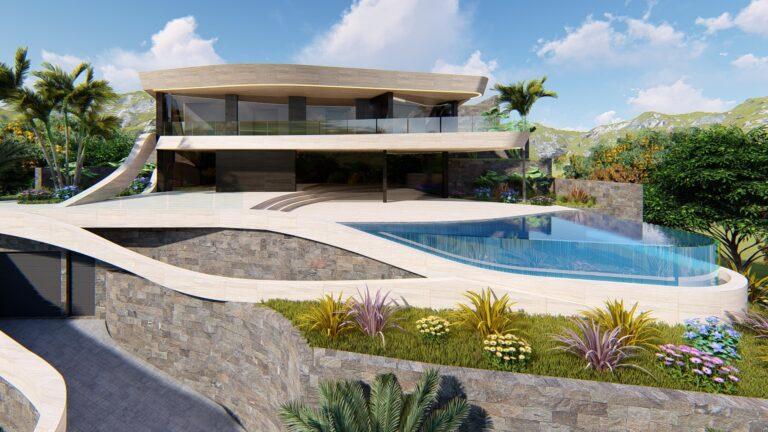 NC4040MB : Великолепная вилла с видом на море в самом эксклюзивном жилом районе Хавеи