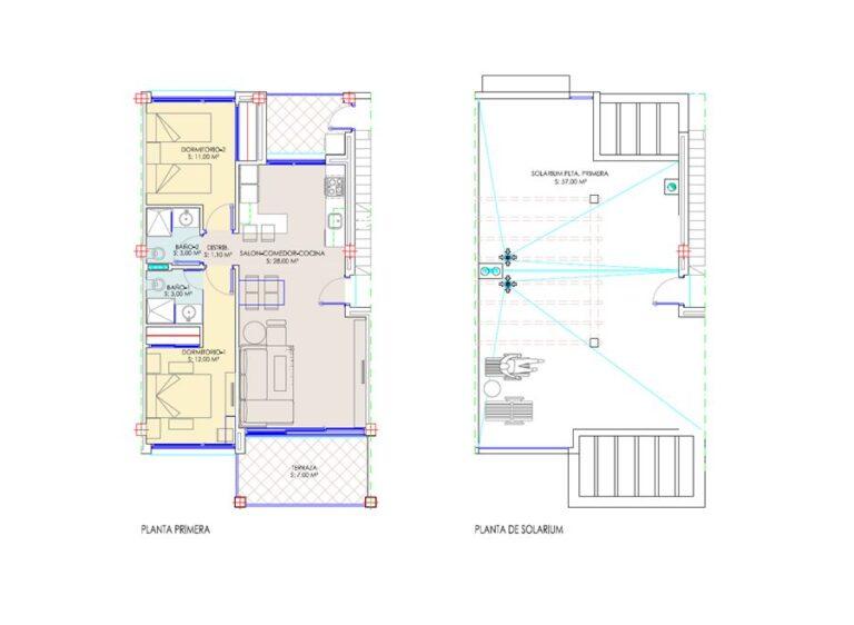RV1312BN : Недавно построенное бунгало в Лос Балконес, Торревьеха