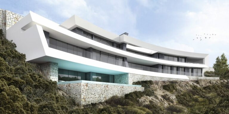 NC0123PJ : Новая вилла в Хавеи с видом на море