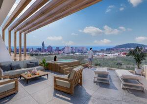 Продажа дуплекса в провинции Costa Blanca North, Испания: 2 спальни, 226 м2, № NC3878CR – фото 1