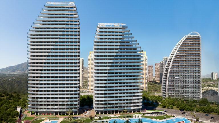 NC2525TM : Новые квартиры на первой линии пляжа в Бенидорме