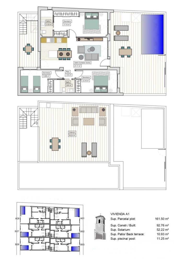 NC2506PC : Таунхаусы в элитном жилом комплексе, Долорес де Пачеко, Лос Алькасарес