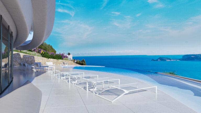 NC3030MB : Красивая вилла с видом на море в Хавеи