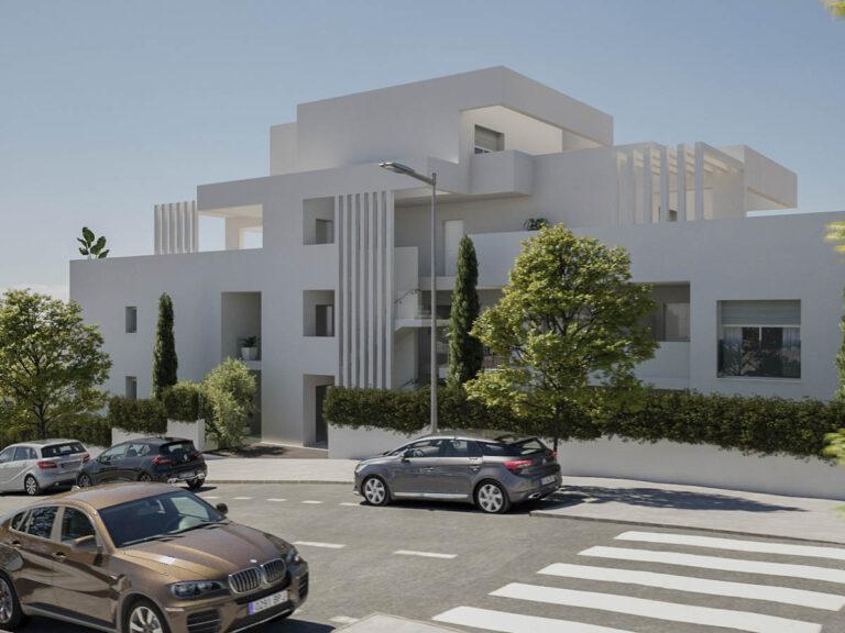 NC3726NE : Квартиры с большими террасами в Эстепоне