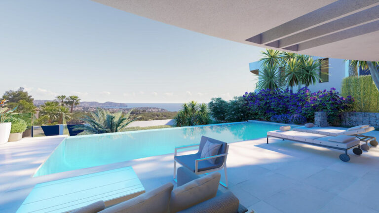NC3745GH : Красивая роскошная вилла с видом на море и бассейном в Морайре
