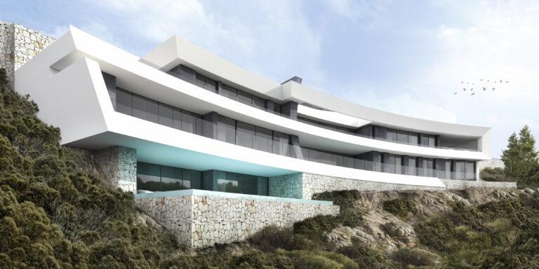 NC0220SP : Дизайнерская вилла с фантастическим видом на море в Ла Корона (Хавеа)
